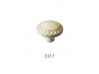 3317 núm tủ  trắng mạ vàng